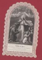 9AL1355 CANIVET IMAGE PIEUSE ANCIENNE Dentelles HOLY CARDS ENFANTS DE MARIE - Images Religieuses