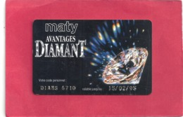 "CARTE "" MATY AVANTAGE DIAMANT "" BESANCON  . - Juwelen & Horloges"
