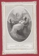 9AL1357 CANIVET IMAGE PIEUSE ANCIENNE Dentelles HOLY CARDS J'ai Cru... Je Vois - Santini