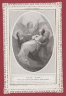9AL1357 CANIVET IMAGE PIEUSE ANCIENNE Dentelles HOLY CARDS J'ai Cru... Je Vois - Andachtsbilder