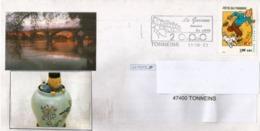 La Garonne à Tonneins (Lot-et-Garonne), Enveloppe Tintin, Année 2002 - France