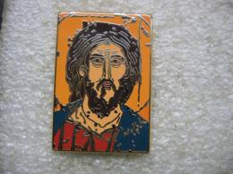 Pin's Portrait Du CHRIST Pantocrator (Serbe Du XIIIe Siecle) - Pin's