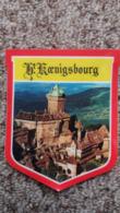 AUTOCOLLANT HAUT KOENIGBOURG CHATEAU FORMAT 7 PAR 8.5 CM FORME ECUSSON - Autres Collections