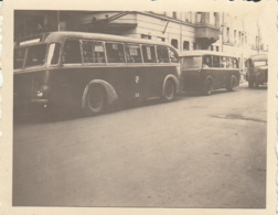 Trolleybus Mit Anhänger,Zwickau,Foto ~ 6x6 Cm, Ungelaufen - Bus & Autocars
