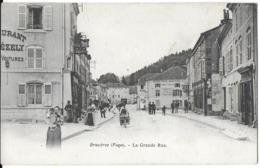 BRUYÈRES 88 VOSGES LA GRANDE RUE  DOS NON DIVISE - Bruyeres