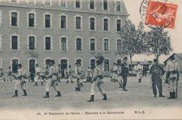Angers (49 - Maine Et Loire) 6eme Régiment Du Génie - école Du Génie - Escrime Et Baïonnette Circulée 1909 - Angers