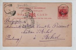 PR7304/ Entire CP Ceylon 1901 Via Colombo > Belgium Achel Arrival Cancellation - Ceylan (...-1947)