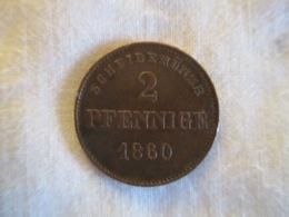 Germany - Sachsen-Meiningen: 2 Pfennig 1860 - [ 1] …-1871 : German States