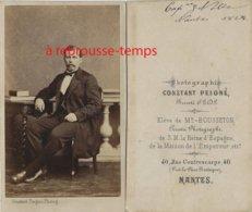 CDV En 1864-capitaine NOLLE ? à Déchiffrer-photographe Peigné, élève Bousseton Maison De L'Empereur Et Espagne à Nantes- - Guerra, Militares