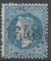 Lot N°51144  Variété/n°29B, Oblit GC 1648 Gex, Ain (1), Ind 4, Filet OUEST - 1863-1870 Napoléon III. Laure