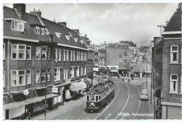 Leiden Korevaarstraat Blauwe Tram Tramway Strassenbahn Trolley Naar/to Den Haag NZH 1960's - Leiden