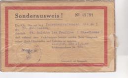 Cpa SONDERAUSWEIS 1944 - Documents Historiques