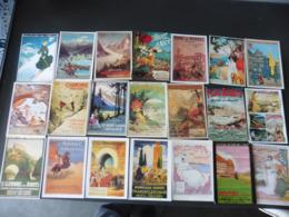 LOT  DE  42   CARTES  POSTALES   D AFFICHES  ANCIENNES - 5 - 99 Cartes