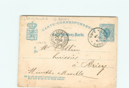 LUXEMBOURG  - 54 - BRIEY - Carte Lettre Circulée En 1878 - Philatelie - Luxemburg - Town