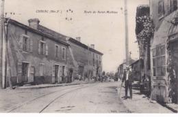 Cpa CUSSAC ROUTE DE SAINT MATHIEU - France
