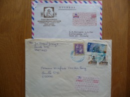 (1) CHILE, CHILI 2 LETTRE SEND TO THE NETHERLANDS SEE SCAN. - Chile