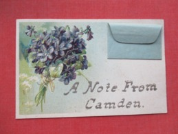 PFB Embossed  A Note From Camden  Camden    New Jersey      Ref 3644 - Camden
