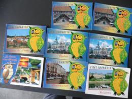 LOT  DE  8    CARTES  POSTALES   C  EST   CHOUETTE - Cartes Postales