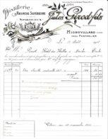 Mignovillard Près Pontarlier. Facture Distillerie Jules Girod Fils. Absinthe, Spiritueux. Août 1911. TB état.. - France