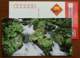 Mountain Waterfall & Stream,China 2017 Yantai Landscape Advertising Pre-stamped Card - Holidays & Tourism