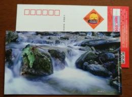 Mountain Waterfall & Stream,China 2017 Yantai Landscape Advertising Pre-stamped Card - Vakantie & Toerisme