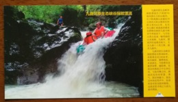 Jiuquhe River Canyon Exploration Rafting,CN 14 Mt.tianzhushan 5A Level National Scenic Spot Advert Pre-stamped Card - Holidays & Tourism