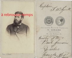 CDV En 1868-captain ....... ? à Déchiffrer-Québec- Canada-photographe Girard Ex Bazelais à Nantes - Guerra, Militares