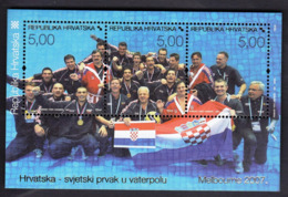Croatia 2007 / Croatia Waterpolo World Champion / Melbourne 2007 / MINT Block - Wasserball
