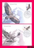 ABKHAZIA 2019 Europa CEPT Theme Fauna Predatory Birds Of Prey Golden Eagle & Bald Vulture 2 FDC - 2019