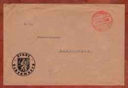 Teilbotenpost, Brief, Stadt Schramberg, Gebuehr Bezahlt Tuebingen, Nach Reutlingen 1945 (79959) - Französische Zone