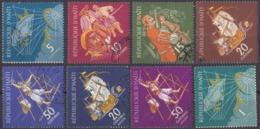 HAITI - 1961 - Due Serie Complete Usate: Yvert 461/465 Formata Da 5 Valori E Yvert Posta Aerea 223/225 Di 3 Valori - Haiti