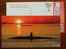 Sunset In Norway Fjord From Fenfen Photography Artwork,CN 13 Wuhan Hangzhou Post New Year Greeting Pre-stamped Card - Holidays & Tourism