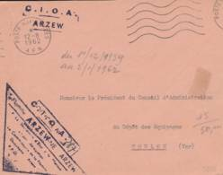 "1962- Cachet "" C.I.O.A.  ARZEW  "" - Sur Lettre - Correo Naval"