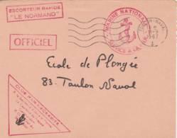 """1967- Cachet  Escorteur Rapide  """"LE NORMAND  """" - Sur Lettre - Poststempel (Briefe)"""