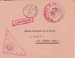 """1969- Cachet    """"L' EFFRONTE  """" - Sur Lettre - Postmark Collection (Covers)"""