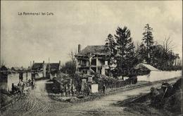 Cp Pommeraye Creil Oise, La Pommerail, Straßenpartie, Gruppenportrait Soldaten, Kutsche, Ruinen - Frankrijk