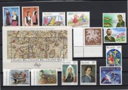 Kleine Sammlung Island 1989 - 91 Postfrisch - 1944-... Republik