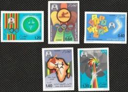 Non-dentelé/Année 1978-N°685/689 Neufs**MNH/imperforate : 3ème Jeux Sportifs Africains    (pm) - Algerien (1962-...)