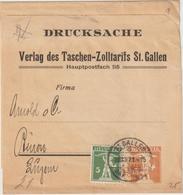 """Schweiz: Privatganzsachen-Streifband """"Taschen-Zolltarif St. Gallen"""", 1921  - Ohne Zuordnung"""