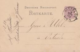 DR Ganzsache K2 Gittelde 9.2.1883 Gel. Nach Osterode - Cartas