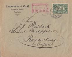 DR Brief EF Minr.249 Schwerte 4.7.23 Gel. Nach Regensburg Vignette - Deutschland