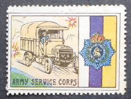 Great Britain 1916 Military Vignette Army Service Corps - Cinderellas