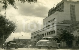 1950 REAL PHOTO FOTO POSTCARD SIZE CINE TEATRO CINEMA RUACANA NOVA LISBOA HUAMBO ANGOLA AFRICA CARTE POSTAL VOITURE CARS - Angola