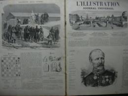 L'ILLUSTRATION 1453 GENERAL CHANZY / MOULINS A FARINE/ PLATEAU D'AVRON - 1850 - 1899