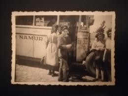 JEUNE CONTRÔLEUR DE BUS OU TRAMWAY ? À JAMBES NAMUR  UNE PHOTO + SCOUTS CAMP À CERFONTAINE 4 PHOTOS + 2 CARTES POSTALES - Namur