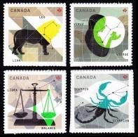 Canada (Scott No.2453-56 - Signe Du Zodiac / Zodiac Sighn) (o) - 1952-.... Règne D'Elizabeth II