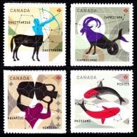 Canada (Scott No.2457-60 - Signe Du Zodiac / Zodiac Sighn) (o) - 1952-.... Règne D'Elizabeth II