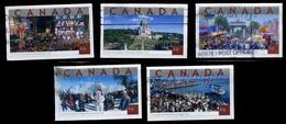 Canada (Scott No.2019-23 - Attractions Touristique / Tourist Attractions) (o) Série / Set - 1952-.... Règne D'Elizabeth II