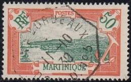 Martinique 1908-1930 - Oblitération Maritime De Colon à Bordeaux LD N°3 Sur N° 101 (YT) N° 115 (AM). - Martinica (1886-1947)