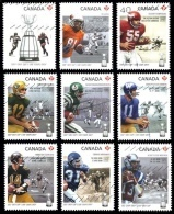 Canada (Scott No.2568 - Canadian / Fottball / Canadian)+ (o) Série De 9 / Set Of 9 - 1952-.... Règne D'Elizabeth II